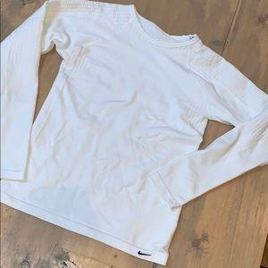 White Nike seamless long sleeve shirt